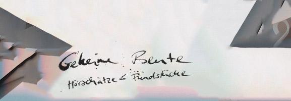 AUFTOUREN: 2012 – Geheime Beute
