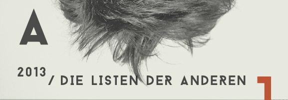 AUFTOUREN 2013 - Die Listen der anderen